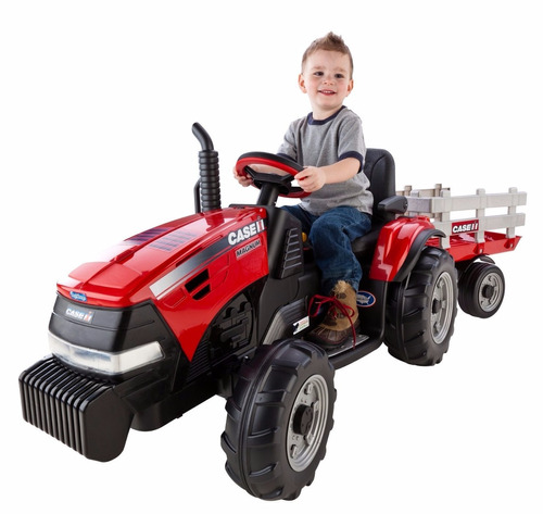 power wheels peg perego case ih magnum tractor/trailer