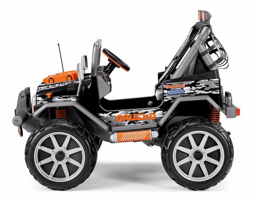 power wheels peg perego gaucho rock'in ride-on, black