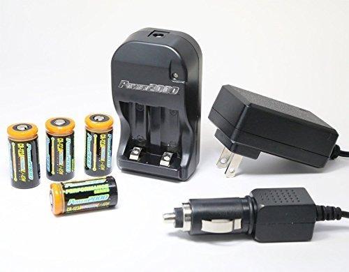 power2000 xp-123a - (4) baterías recargables de litio cr123a