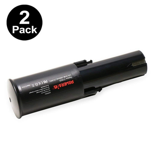 poweraxis 2- paquete 3.6v 3.0ah de ni -mh batería herramien
