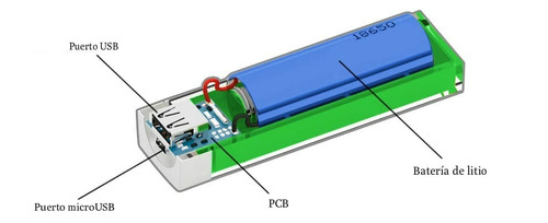 powerbank 2600mha bateria universal economica colores!