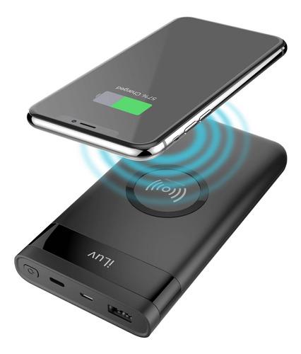 powerbank carregador portatil wireless iluv 10000mah usb c