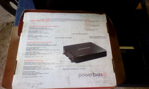 powerbass asa 400.4 x 800  auto sonido serie amplificador