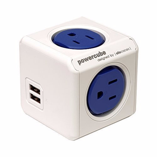 powercube original 4 outlet power adapter with usb port
