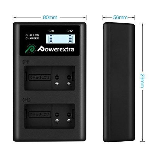 powerextra smart dual usb cargador con pantalla lcd para pan