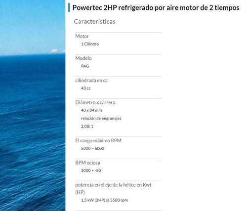 powertec 2 hp nuevos en caja oferta