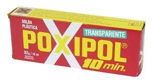 poxipol transparente 82g (solda plástica) 10 minutos c/3 pçs