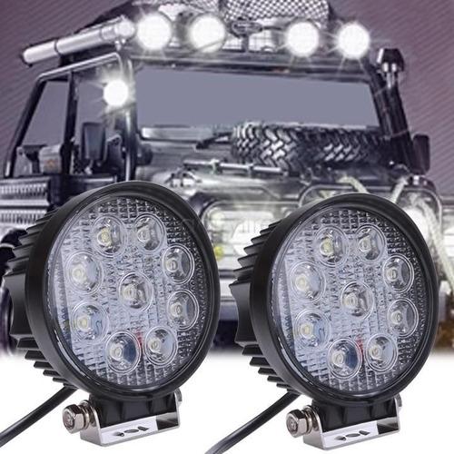 poyector reflector led 12v 24v 27w p/ camionetas motorhome