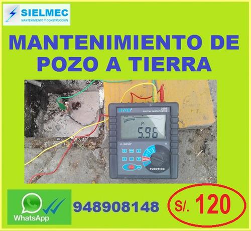 pozo a tierra - certificado - mantenimiento - instalación