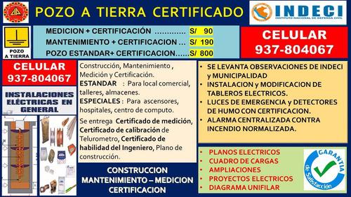 pozo a tierra s/90 medicion + certificacion