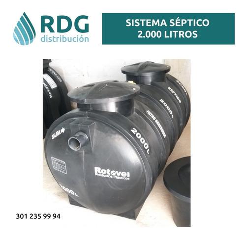 pozo séptico 2000 litros - rotovel - precio incluye iva