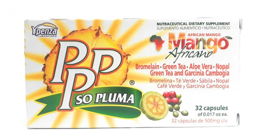 pppso pluma mango africano día ypenza 32 caps env full