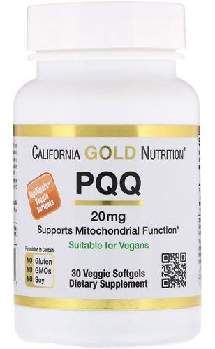 pqq, 20 mg, 30 cápsulas gelatinosas vegetais