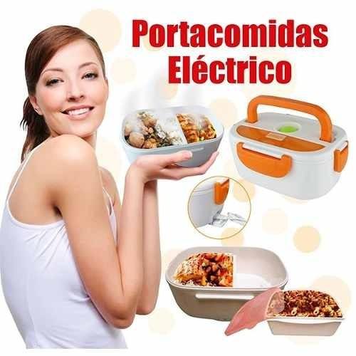 practica segura lonchera porta comida electrica + cuchara