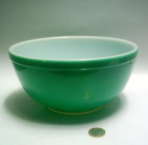 práctico bowl pyrex redondo mediano verde
