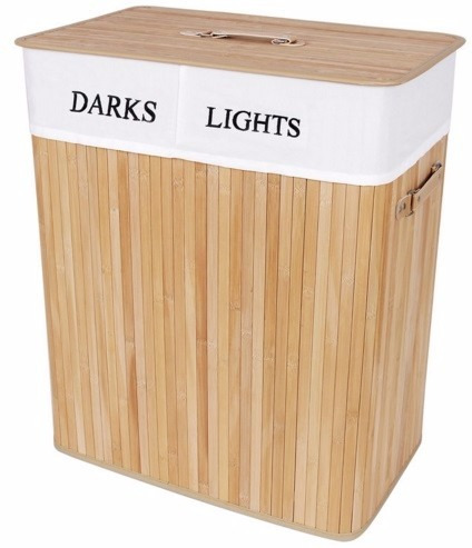Practico cesto clasificador de ropa sucia de madera de - Cesto para ropa sucia ikea ...