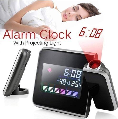 practico reloj despertador led