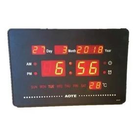 Practico Reloj Digital, Dia Mes Año Led Varios Modelos