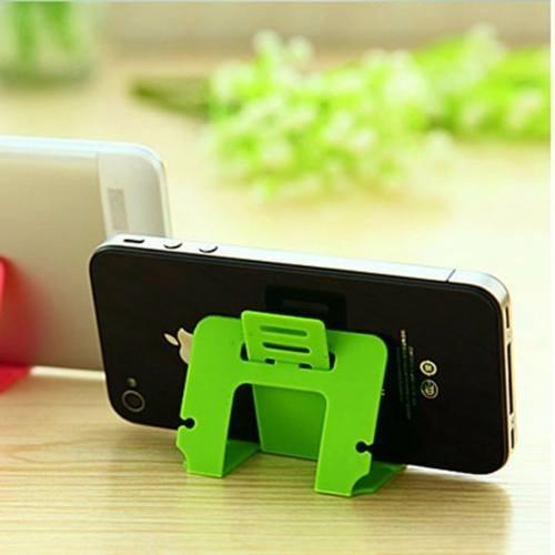 práctico soporte  base para smartphone o tablet tipo tarjeta