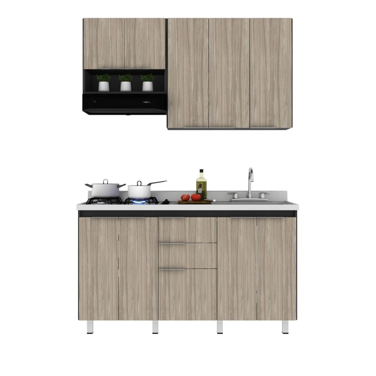 practimac cocina integral aroca metros 9 puertas 3 On cocina integral 3 metros