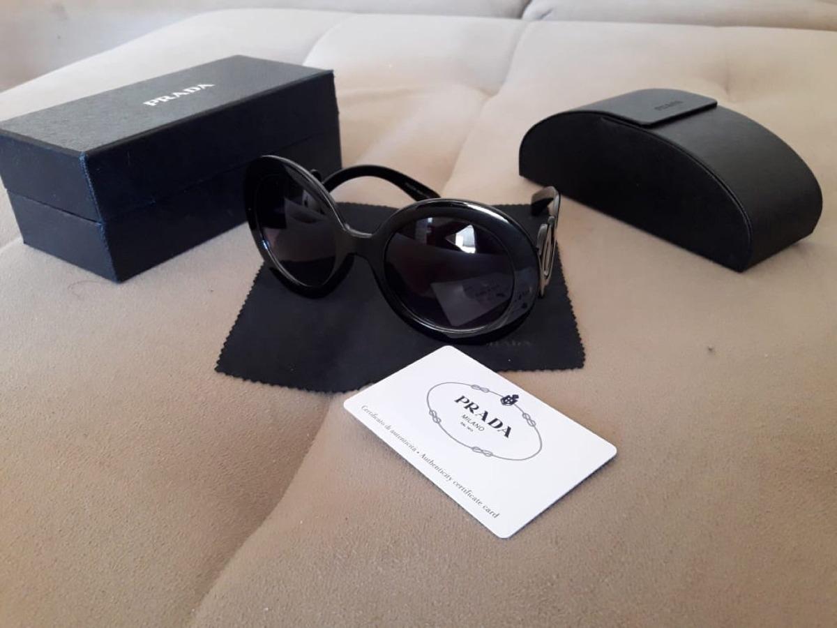 prada barroco sunglasses preto spr 27n 1ab-3m1 preto spr27n. Carregando  zoom. d36efc84cb