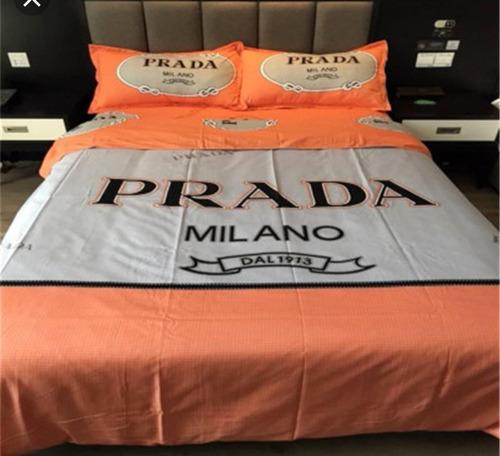 prada logo juego de cama sábanas