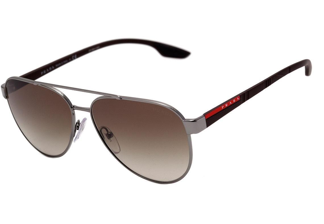 17746be014c4e Prada Ps 54ts - Óculos De Sol 5av 1x1 Cinza Brilho E Marrom - R  773 ...