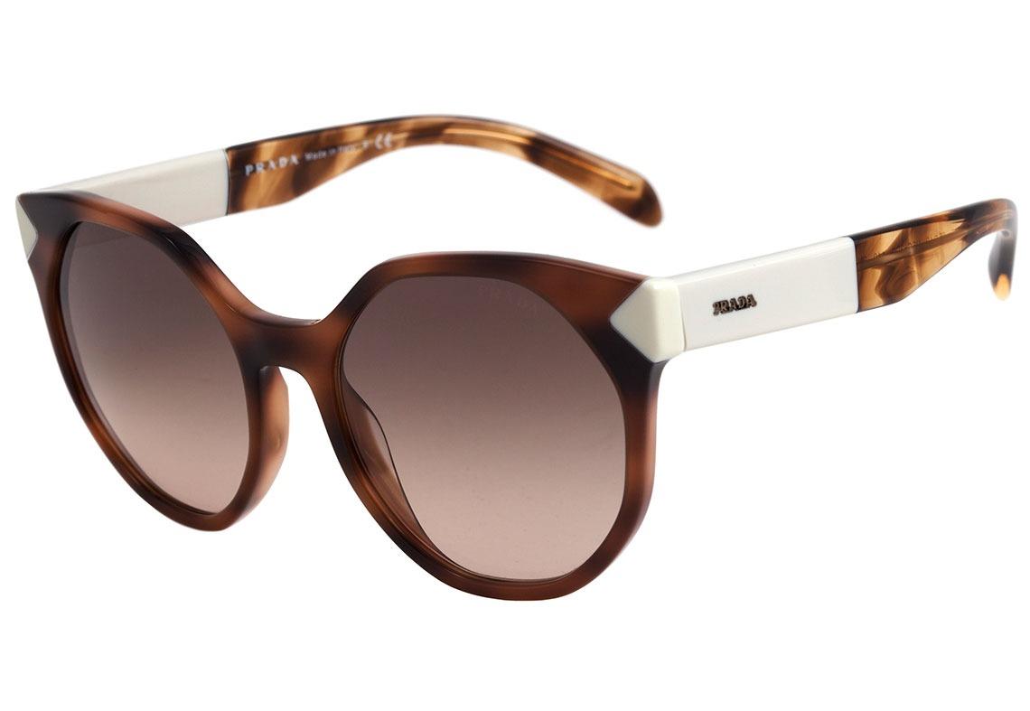 4ec8d3042 Prada Pr 11ts - Óculos De Sol Usg 3d0 Marrom Mesclado E - R$ 599,00 ...