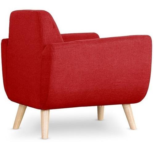 prado sillon estilo moderno minimalista color rojo