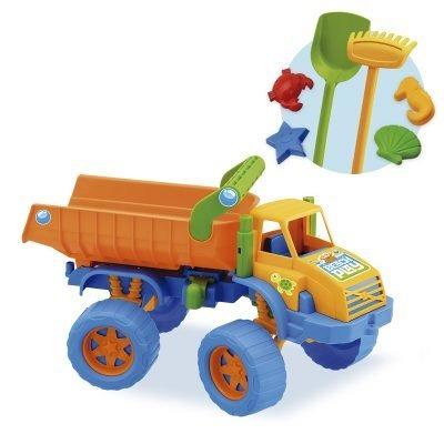 praia brinquedo  2 caminhões caçamba beach play truck
