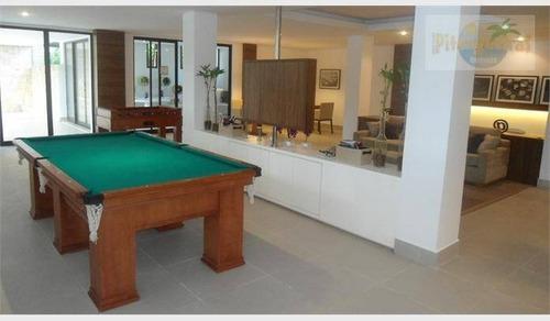 praia da enseada - condomínio fechado, alto padrão, pé na areia, casa duplex, lazer fantástico. - ca0060