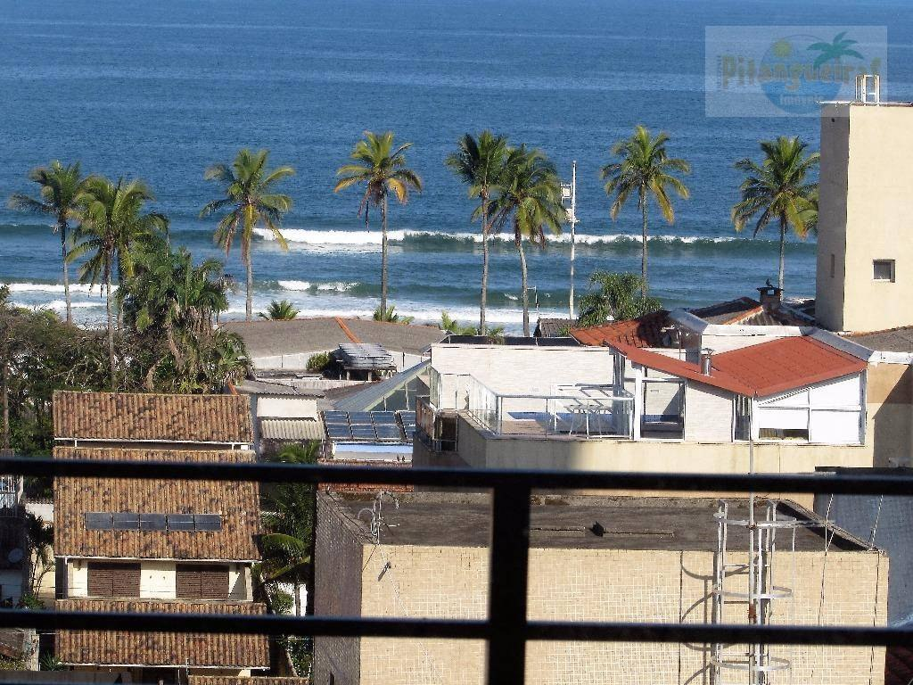 praia da enseada, região valorizada, vista para o mar e prédio com lazer. - ap3547