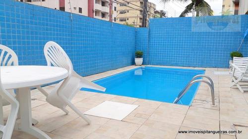 praia das astúrias - ótimo sobrado em condomínio fechado com piscina e churrasqueira. - so0025