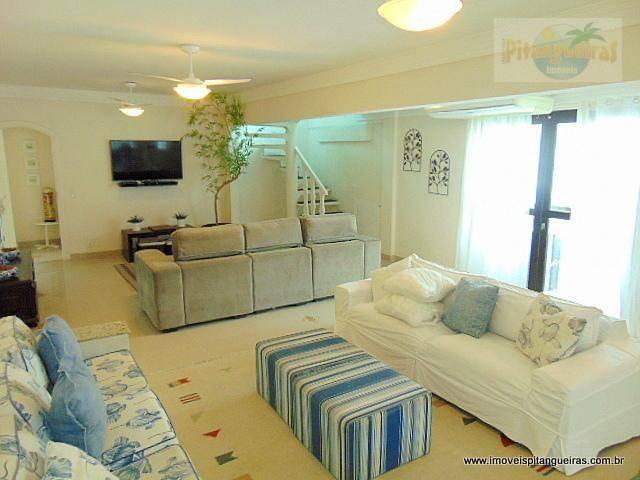 praia das pitangueiras, maravilhosa cobertura duplex à venda, localização excelente, 2 vagas e lazer privativo. - co0168