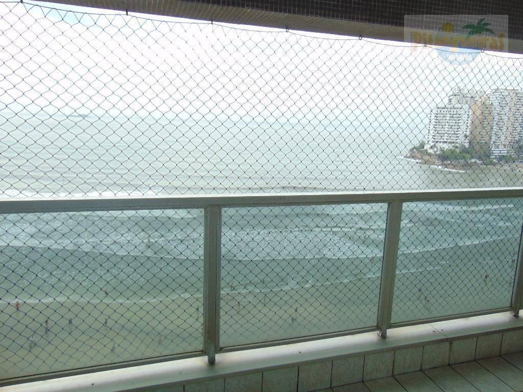praia de astúrias, frente total ao mar, localização espetacular, maravilhosa vista de 360º graus da praia de astúrias, garagem. - ap3365
