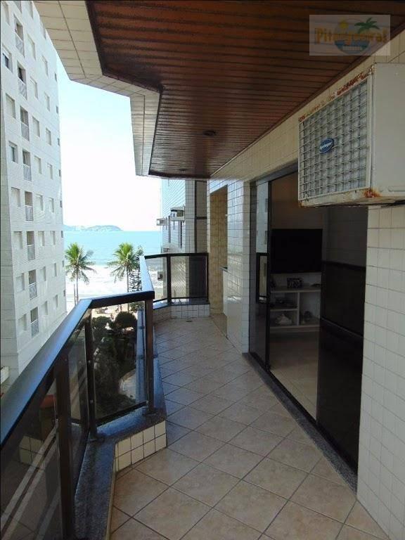 praia de astúrias - prédio frente ao mar - varanda grill - 2 garagens - excelente lazer. - ap3383