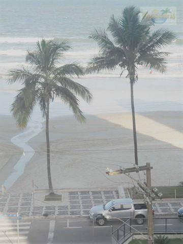 praia de astúrias, varanda com linda vista ao mar, prédio frente ao mar, 98 m² úteis, garagem, próximo a praia de pitangueiras!! - ap1241