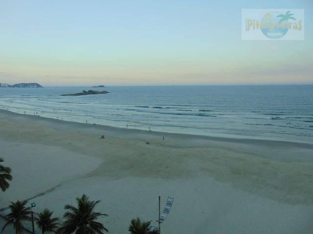 praia de pitangueiras *frente total ao mar, espetacular vista das praias, 2 garagens*, lindo, totalmente reformado, academia... - ap2794