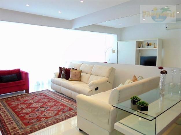 praia de pitangueiras, lindo apartamento com frente total para o mar, todo reformado !! - ap3505