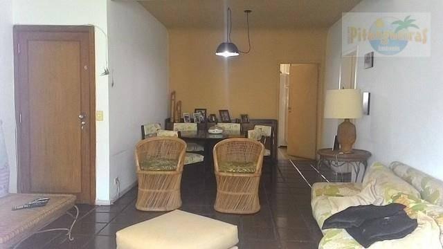 praia de pitangueiras, local nobre a 80 metros do mar, 157 m² úteis, 2 garagens, melhor localização!!! - ap2665