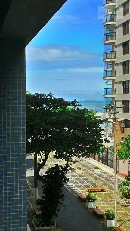 praia de pitangueiras, melhor calçadão, 30 m da praia, vista ao mar, centrinho, garagem para 2 autos. - ap0054