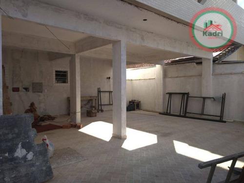 praia grande, balneário melvi, casa em condomínio fechado, 2 dormitórios (2 suítes). - so0033