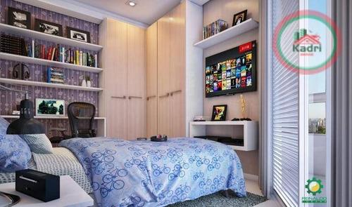 praia grande, guilhermina, lançamento, apartamento 1 dormitório. - ap1248