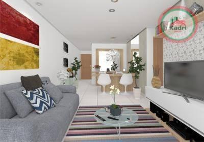 praia grande, guilhermina, pronto para morar, apartamento novo, 2 dormitórios (1 suíte). - ap1127
