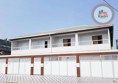 praia grande, jardim quietude, novidade, casa em condomínio fechado, 2 dormitórios (2 suítes). - ca0300