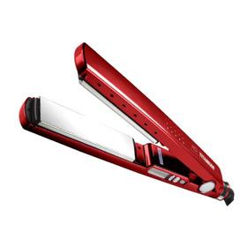 Prancha De Cabelo Mq Professional Hair Styling Titanium Vermelha Com Placas De Titânio 110v/220v