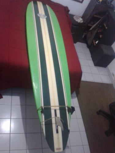 prancha de longboard 9.1 com capa, quilhas e leash, completa