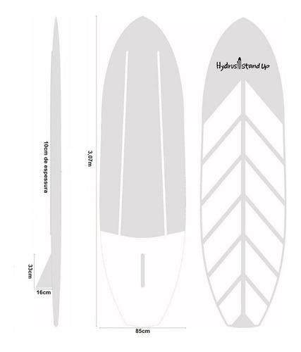 prancha de standup paddle fibra de vidro remo quilha surf