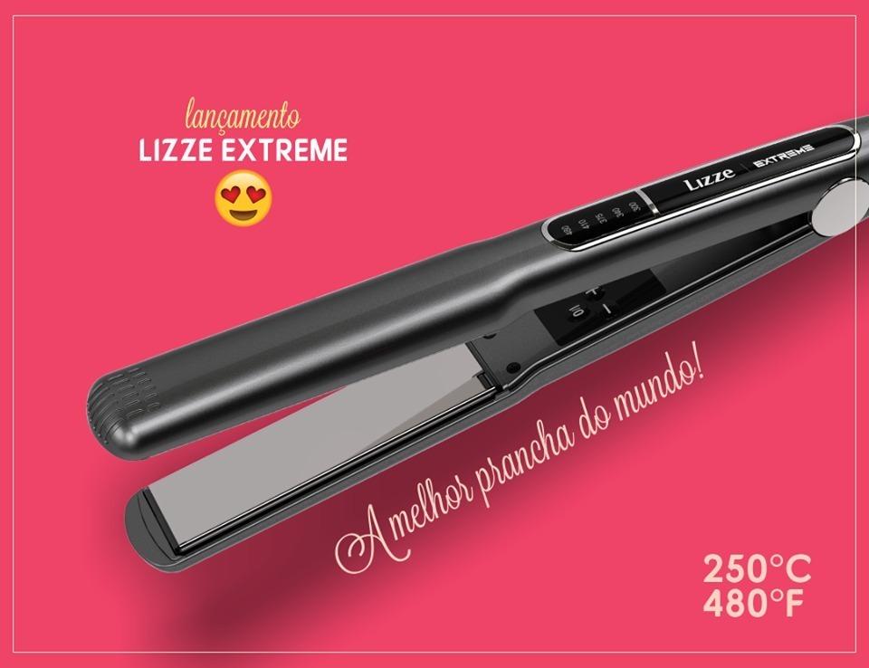 6363dbfcd prancha lizze extreme 250ºc - 480ºf - titanium profissional. Carregando  zoom.
