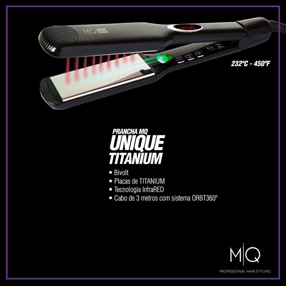 090c5594e Prancha Mq Professional Unique Titanium Infrared 42mm - R$ 420,00 em  Mercado Livre